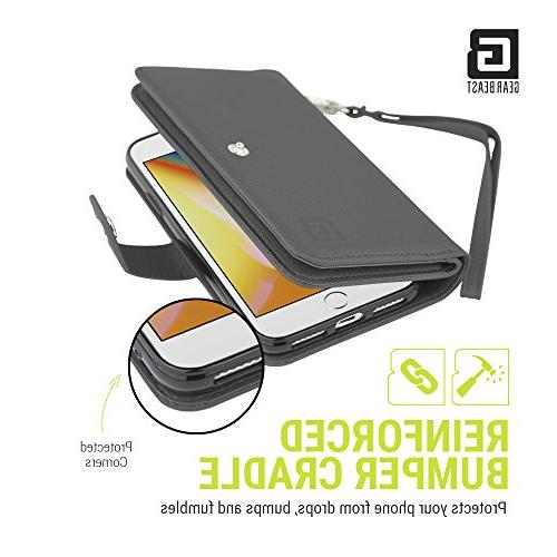 Gear Dual iPhone 8/7 Wallet Case Slim Protective Case Holder Including 2 and Women