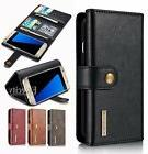 Flip Leather Super Tri-Fold Wallet Removable Case Cover For