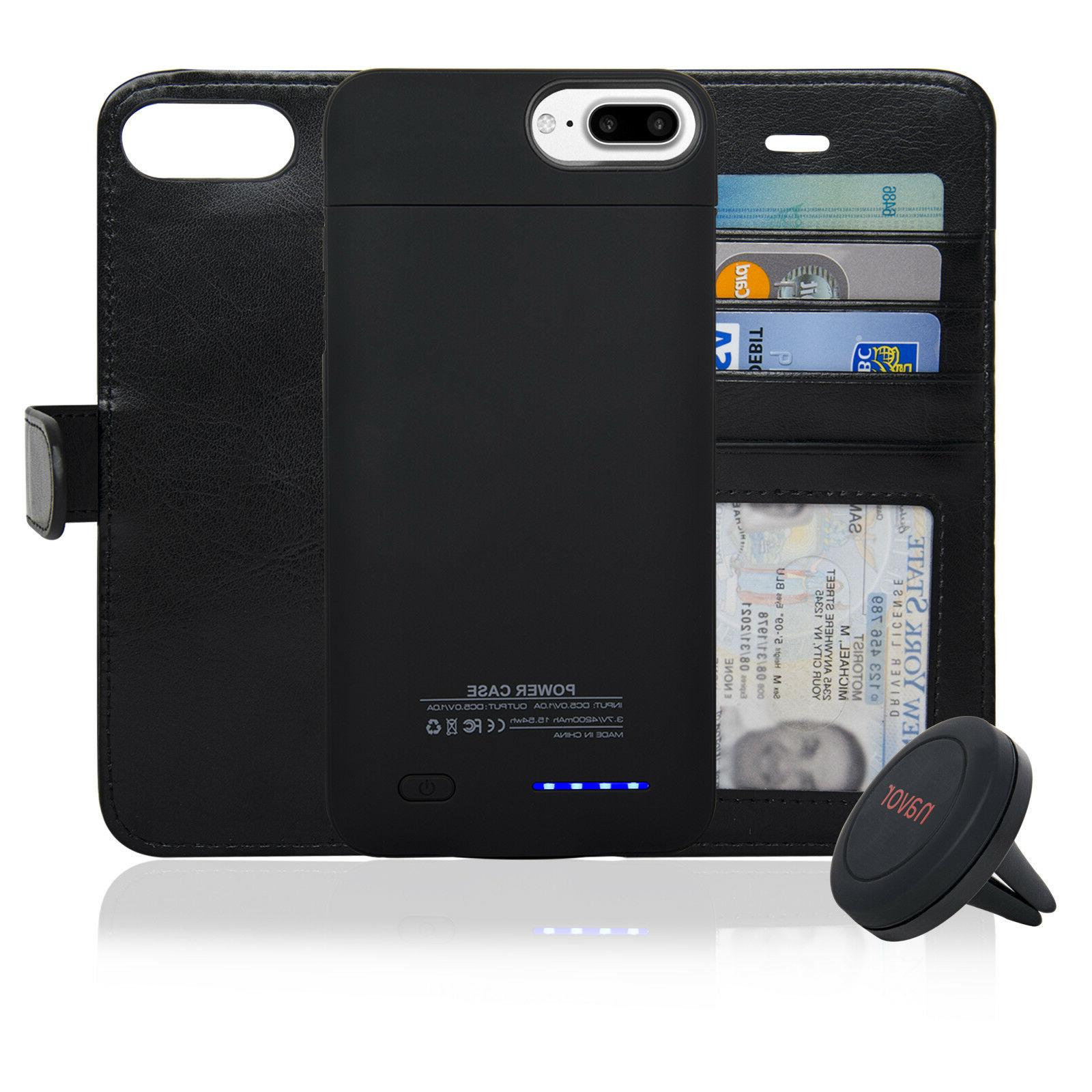 Navor Folio Wallet Magnetic Detachable Battery Case for iPho