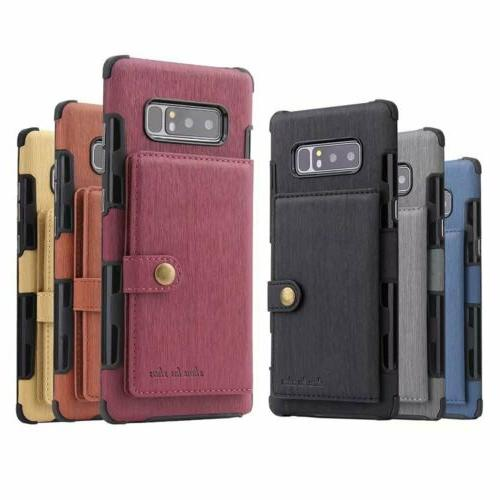 For NOTE 10 S9 Plus Leather Wallet Armor Case Card TPU Cover
