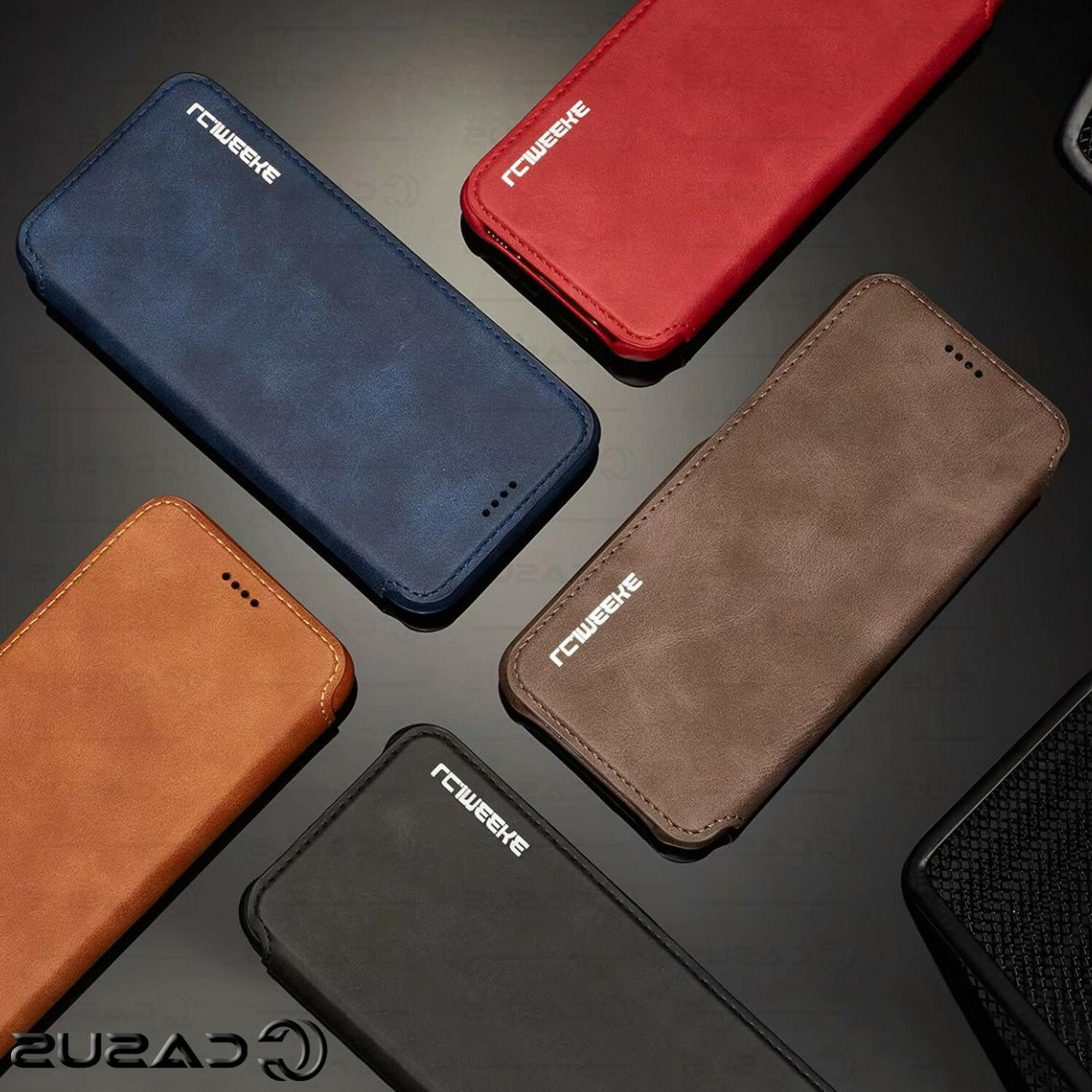 For S10/S9 Plus Wallet Stand Slim Cover