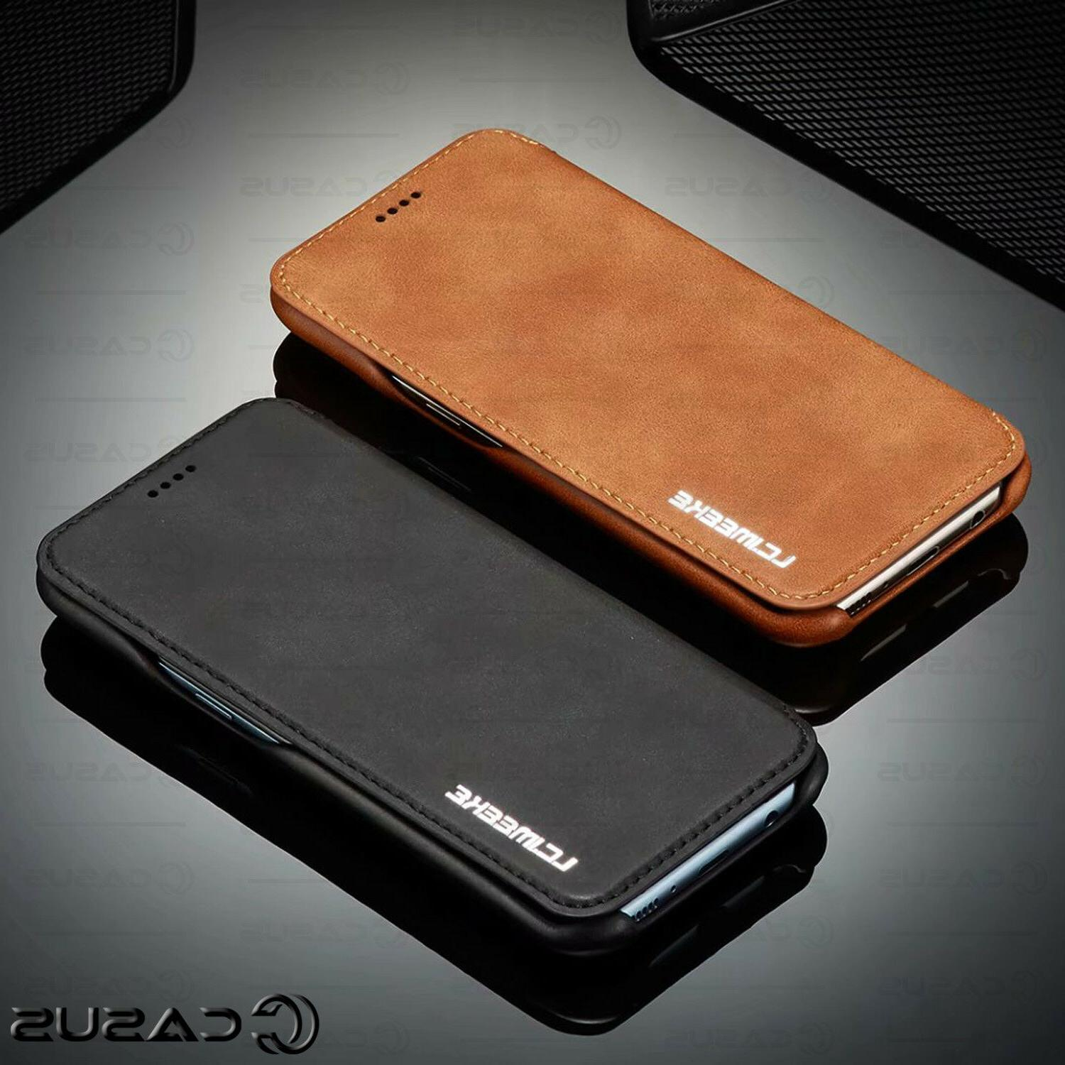 For Galaxy Note 20/10 Ultra S20/S10/S9 Wallet Slim Case Cover