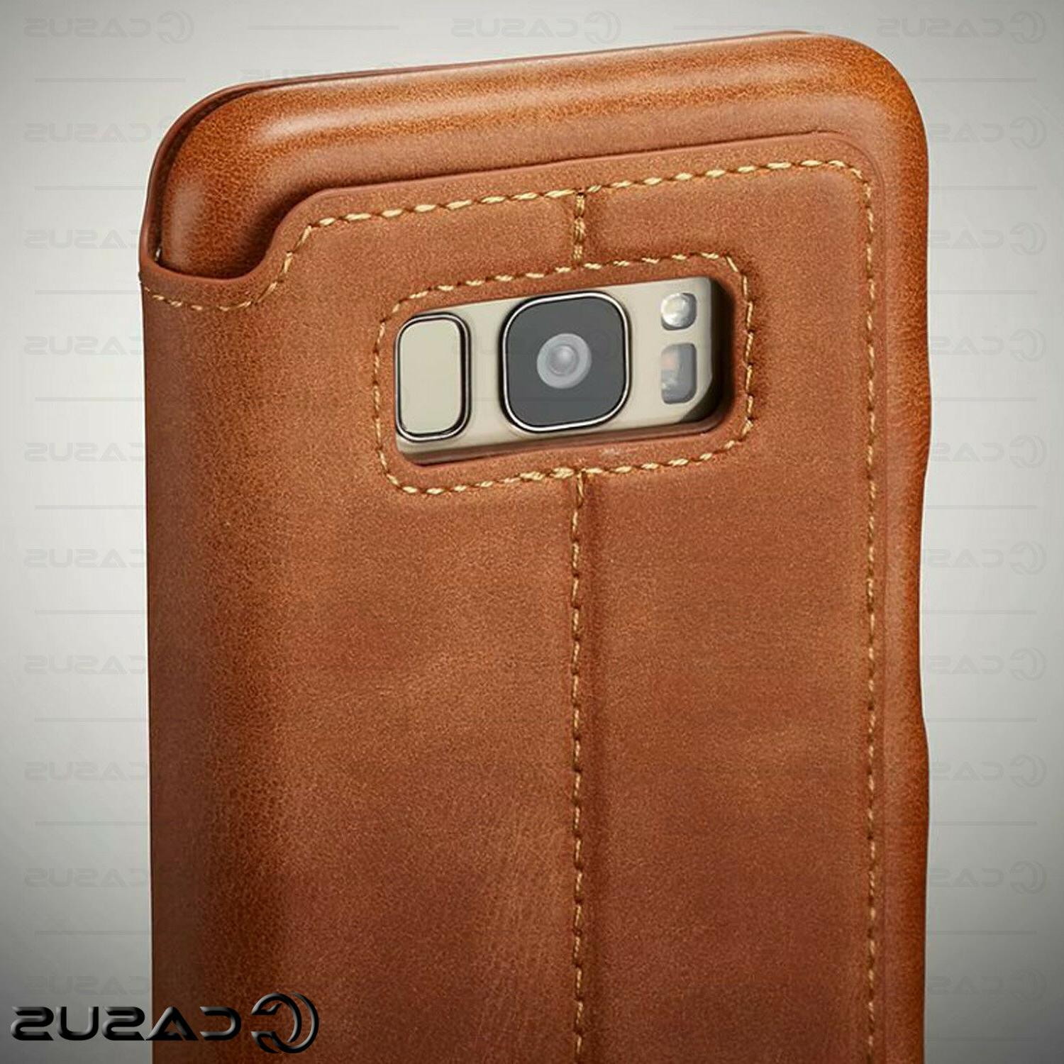 For Galaxy Note 10/9/8 S10/S9 Plus Leather Stand Thin Case Cover