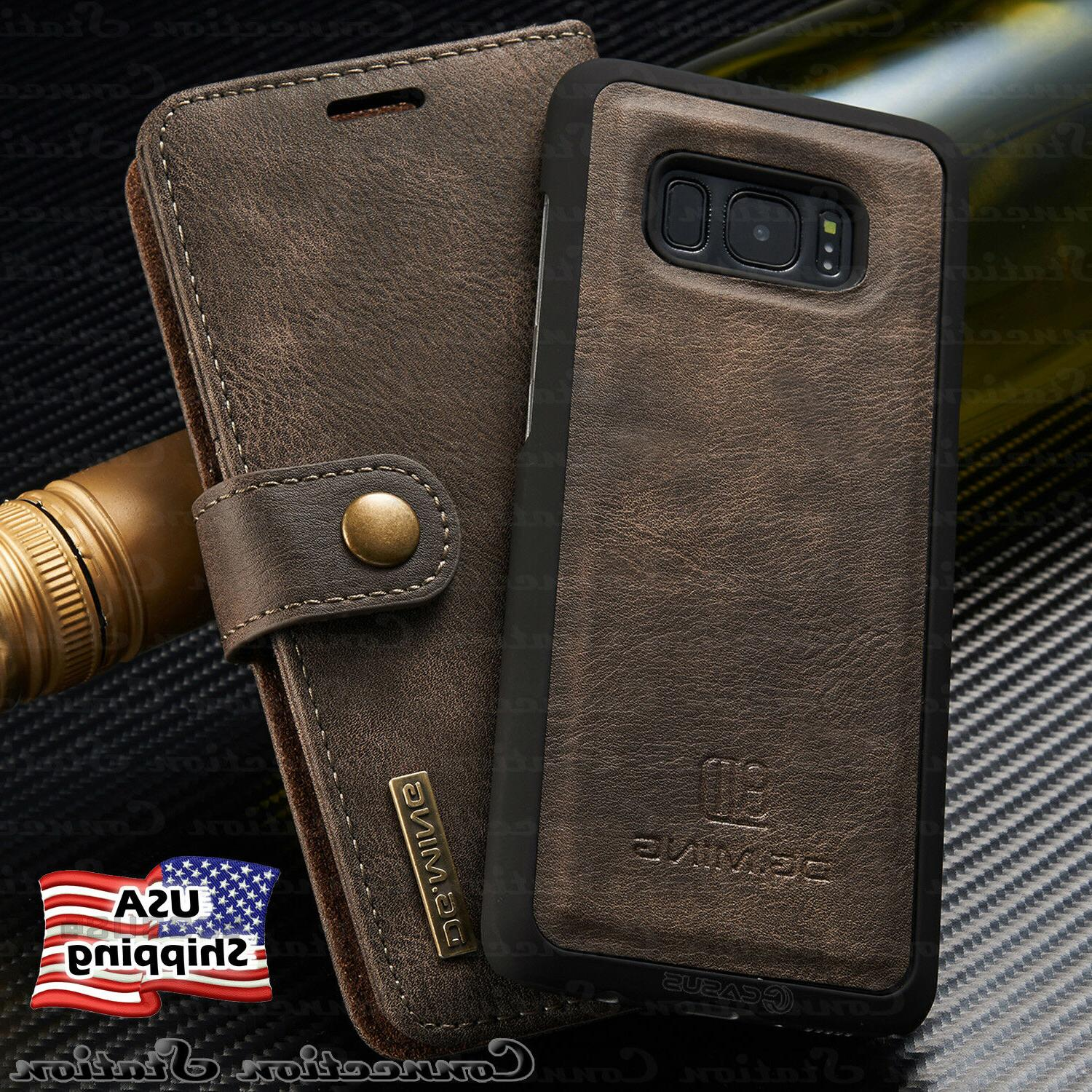 Galaxy Note 9/8 S9/S8+ Plus Leather Removable Wallet Magneti