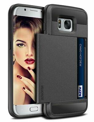 Galaxy S7 Case Card Holder Sliding Cell by Vofolen