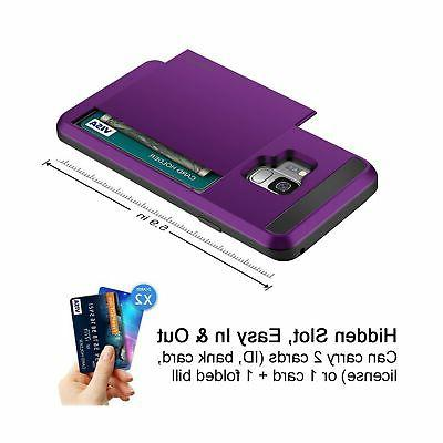 Galaxy Case, Galaxy S9 Card Holder Sliding