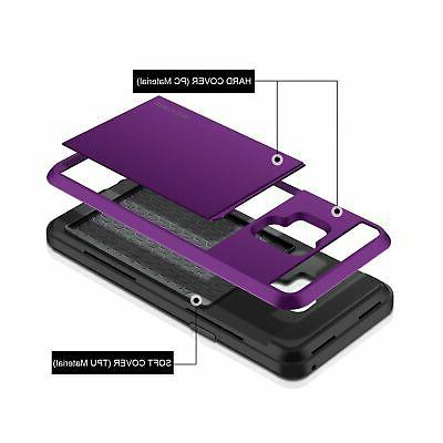 Galaxy S9 Case, Galaxy S9 Card Slot Sliding Cover