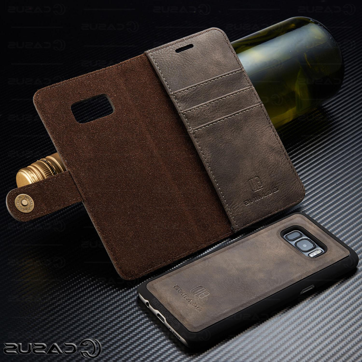 For Galaxy 10/9/8 Leather Removable Flip Cover