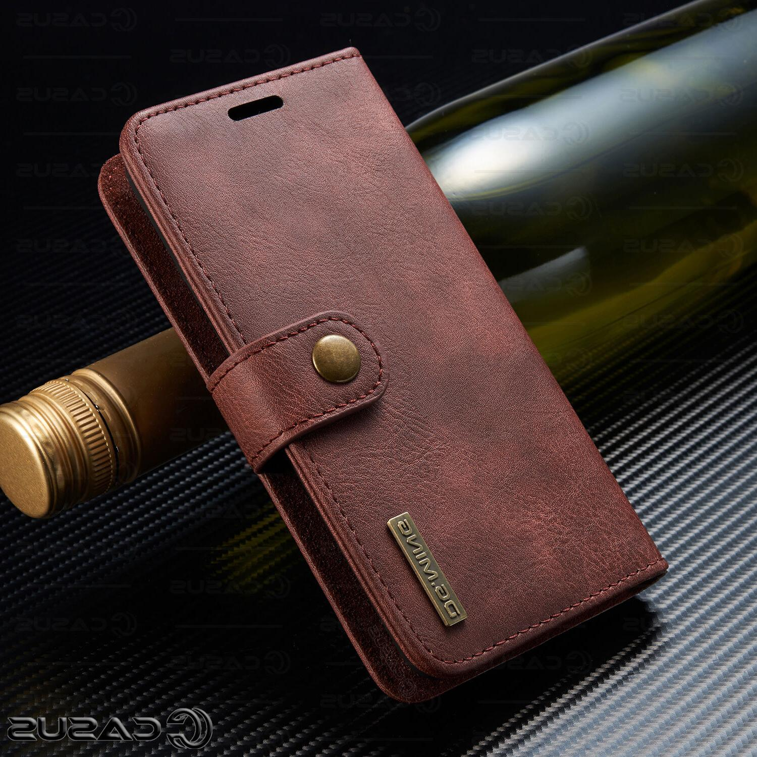 For S10/S9/S8/Note Leather Flip Case
