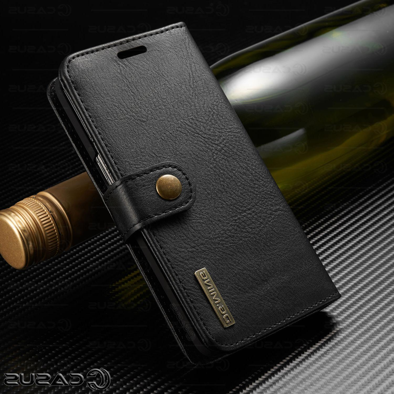 For S10/S9/S8/Note Leather Removable Flip Case