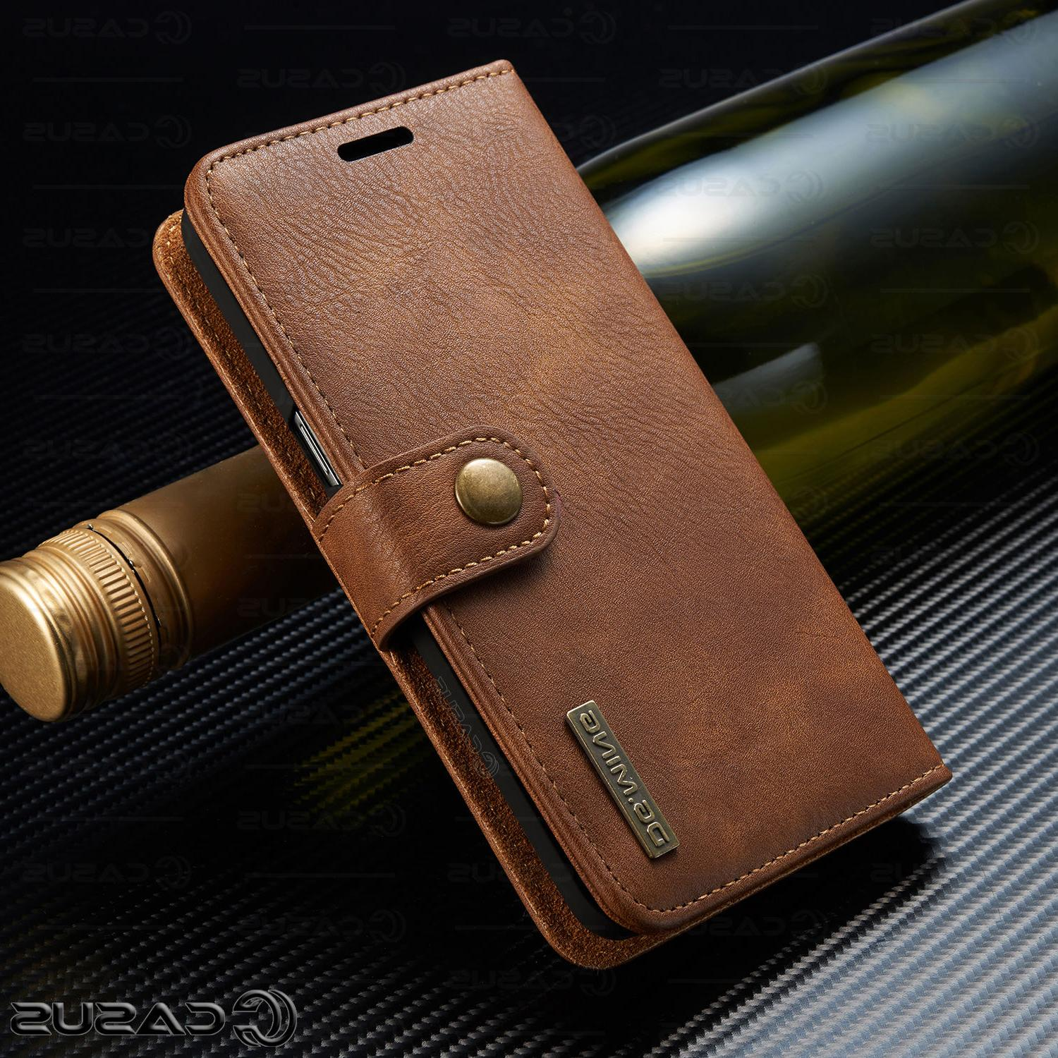For Galaxy Leather Removable Wallet Magnet Flip Case