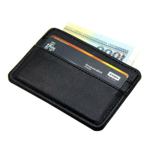 genuine leather mens small id credit card