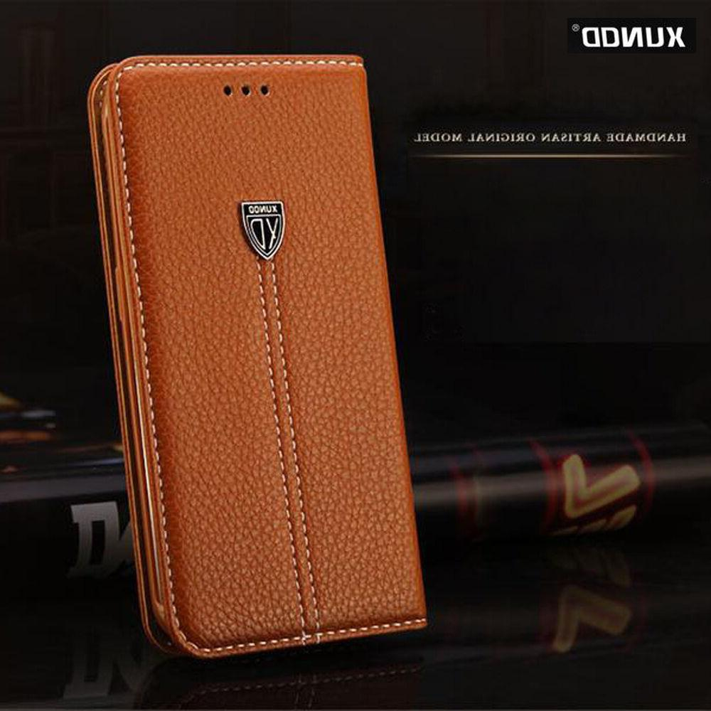 Genuine XUNDD Leather Wallet Card Case Magnetic Flip Cover F