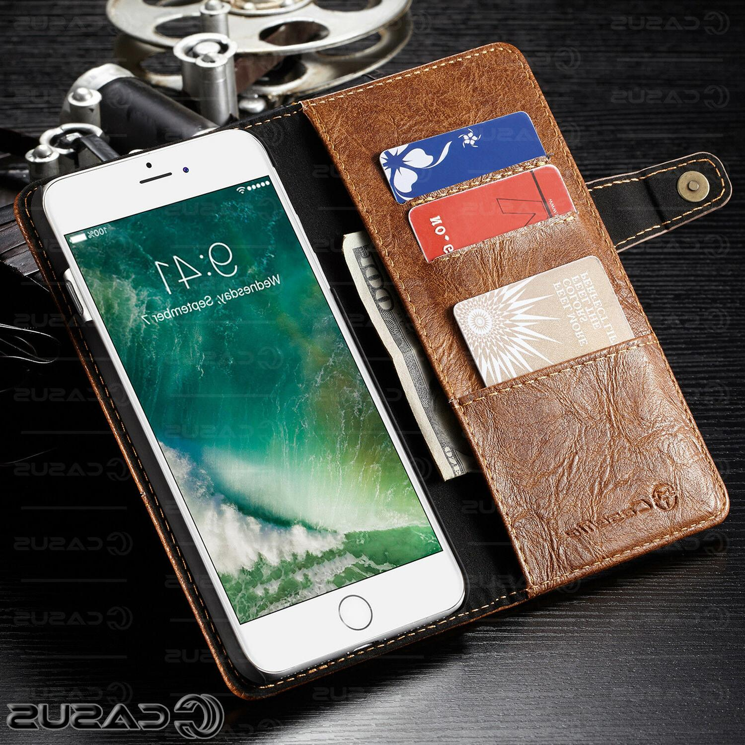 Genuine Leather Wallet Card Holder iPhone