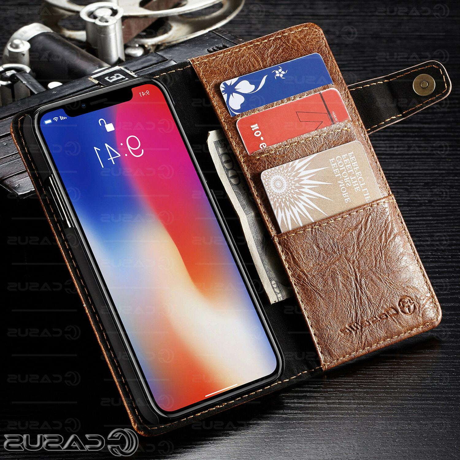 Genuine Wallet for X iPhone 8 Plus