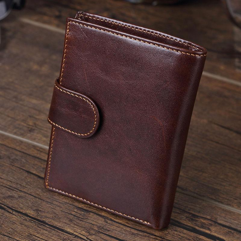 Men's Genuine Leather Coin Card Case