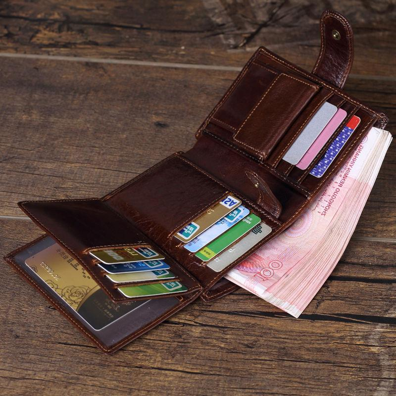 Coin Purse Mens Vintage Trifold