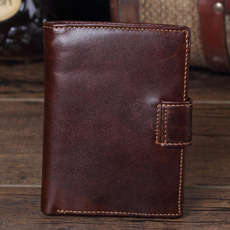 Men's Genuine Leather Wallet Coin Purse Mens Trifold