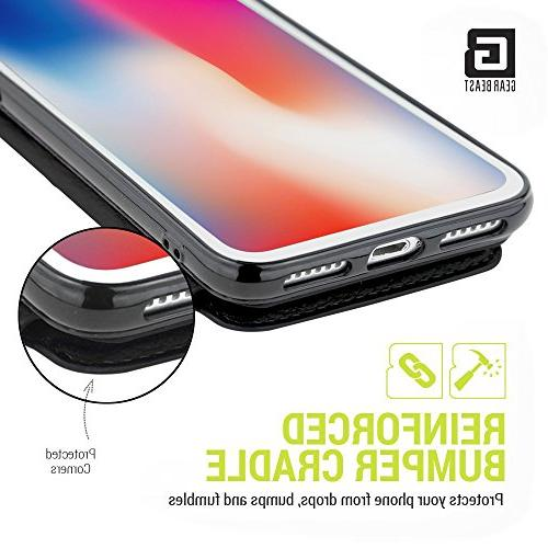Gear Top Genuine View Fits iPhone Includes Flip Folio Cover, with Five Including Transparent