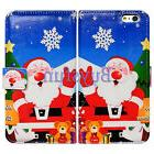 Bcov Happy Christmas Pattern Wallet Leather Cover Case For i