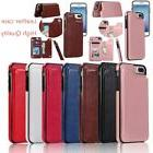 magnetic leather wallet case card slot shockproof
