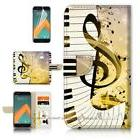 Wallet Case Cover P21305 Music Keyboard