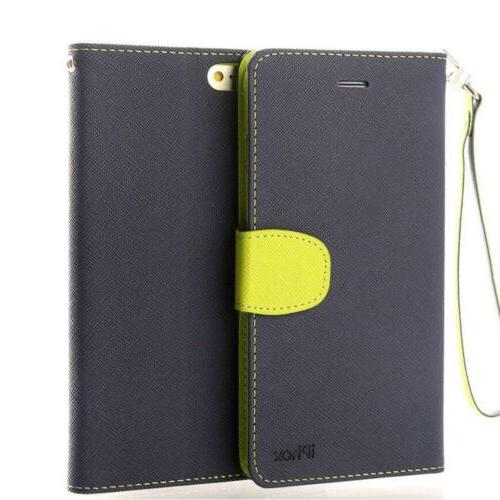 iPhone X Case, IPHOX Leather Case Wallet Flip Cover, Ultra