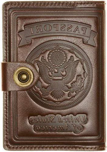 ID Wallet Travel Case Leather US Passport Pouch