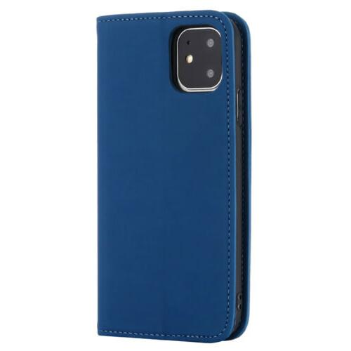 For iPhone 11 7 Case PU Magnetic Flip Cover