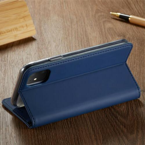 For 11 Max 8 6 5 Flip Leather Phone Case Stand