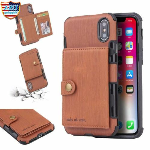 For XS MAX/ 6 8 Wallet Leather Holder