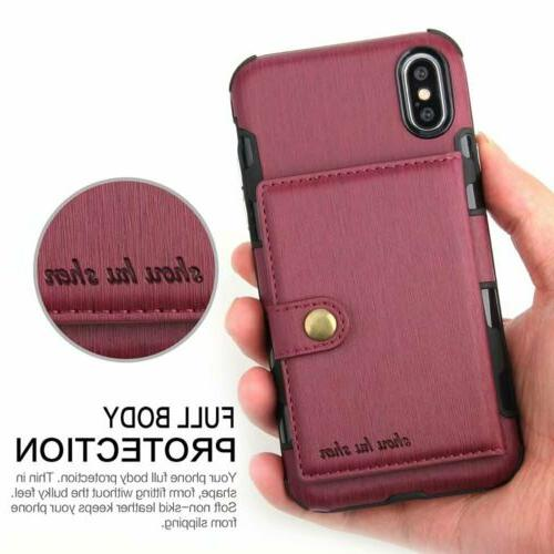 For XS 6 Wallet Leather Holder Cover