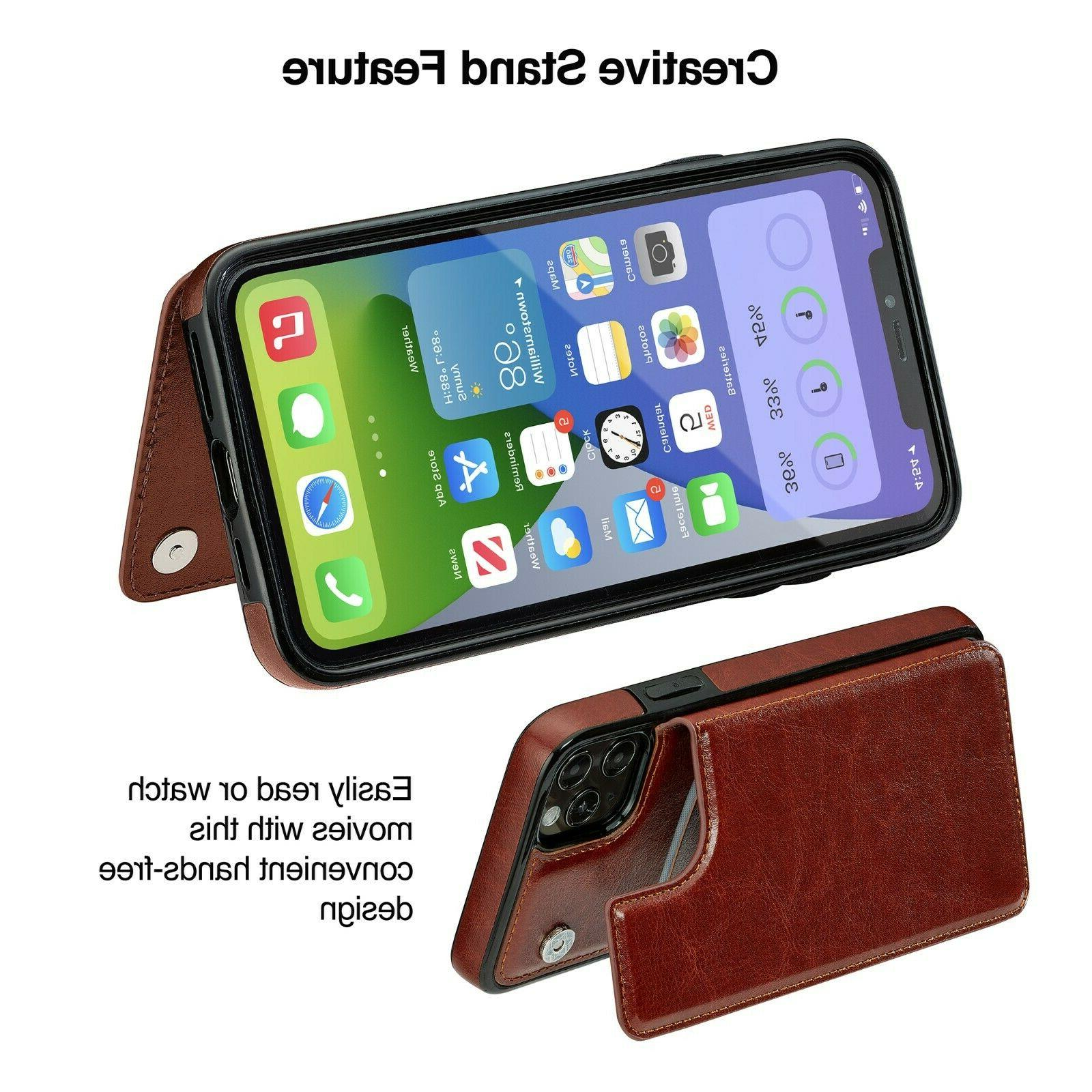 iPhone Mini / / Pro Max Leather Magnetic Cover