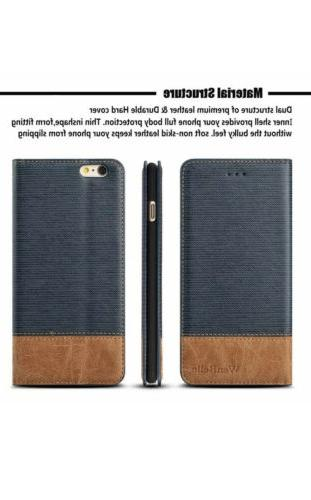 For Iphone 6/6S Case WenBelle - Wallet Card Cash - Stand