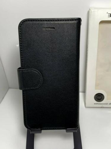 iphone 6 6s black leather wallet card