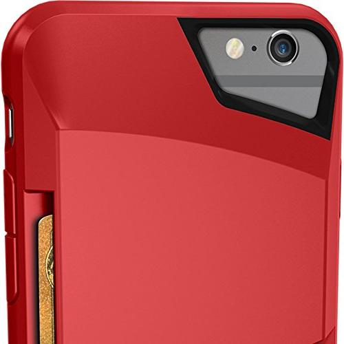 Silk 6/6s Case Credit Card Grip Cover - Slayer - Red Rouge