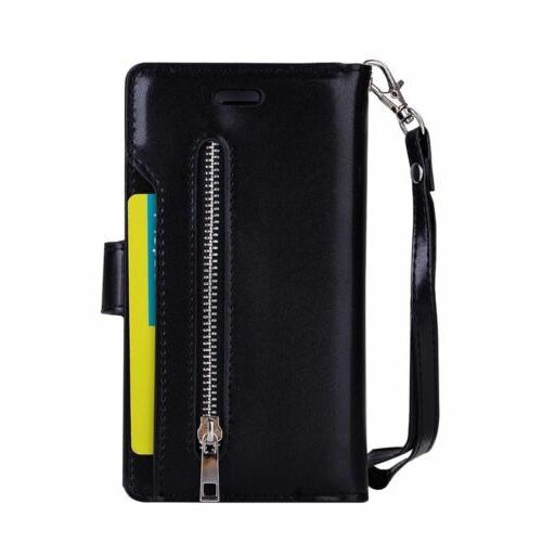 For 7/8 +XS Card Wallet Zippe Phone Cover