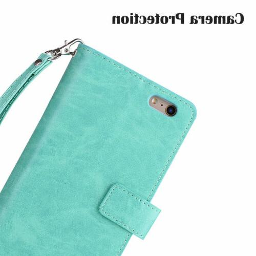 For 6S 7/8 +XS Card Stand Zippe Case