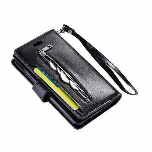 For iPhone 6S 7/8 Card Wallet Leather Zippe