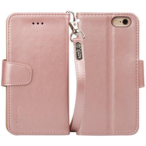 Arae Case for 6s Premium Leather Wallet case ID&Credit iPhone 6s