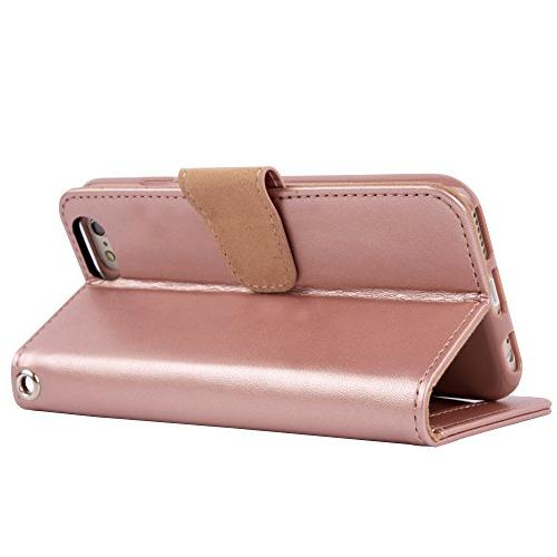 Arae Case for iPhone 6s Premium Leather case Flip with ID&Credit Card Pockets for iPhone 6 4.7 inch
