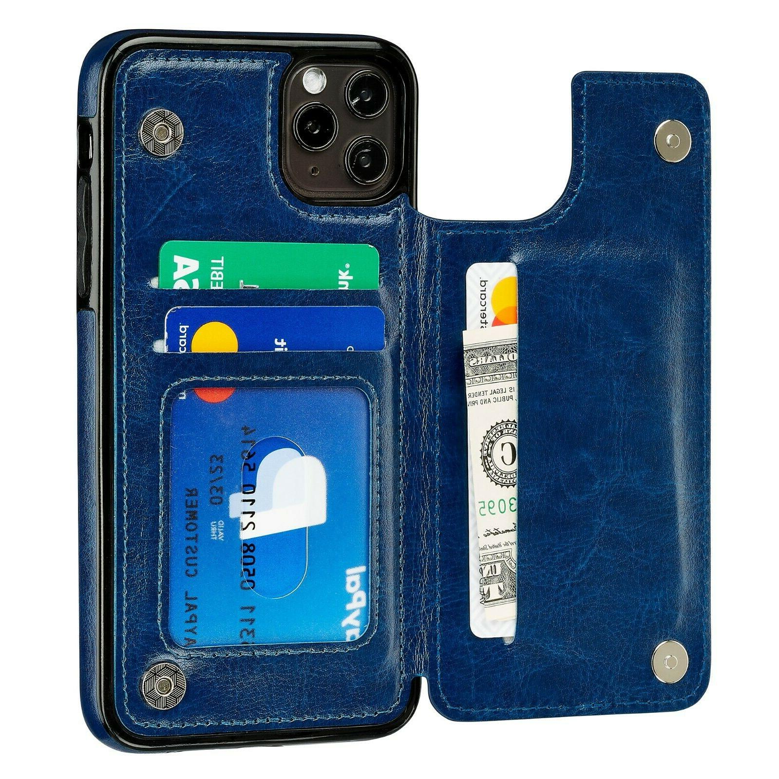 iPhone 7 X 11 12 Wallet Card Money Leather Flip Cover for Apple