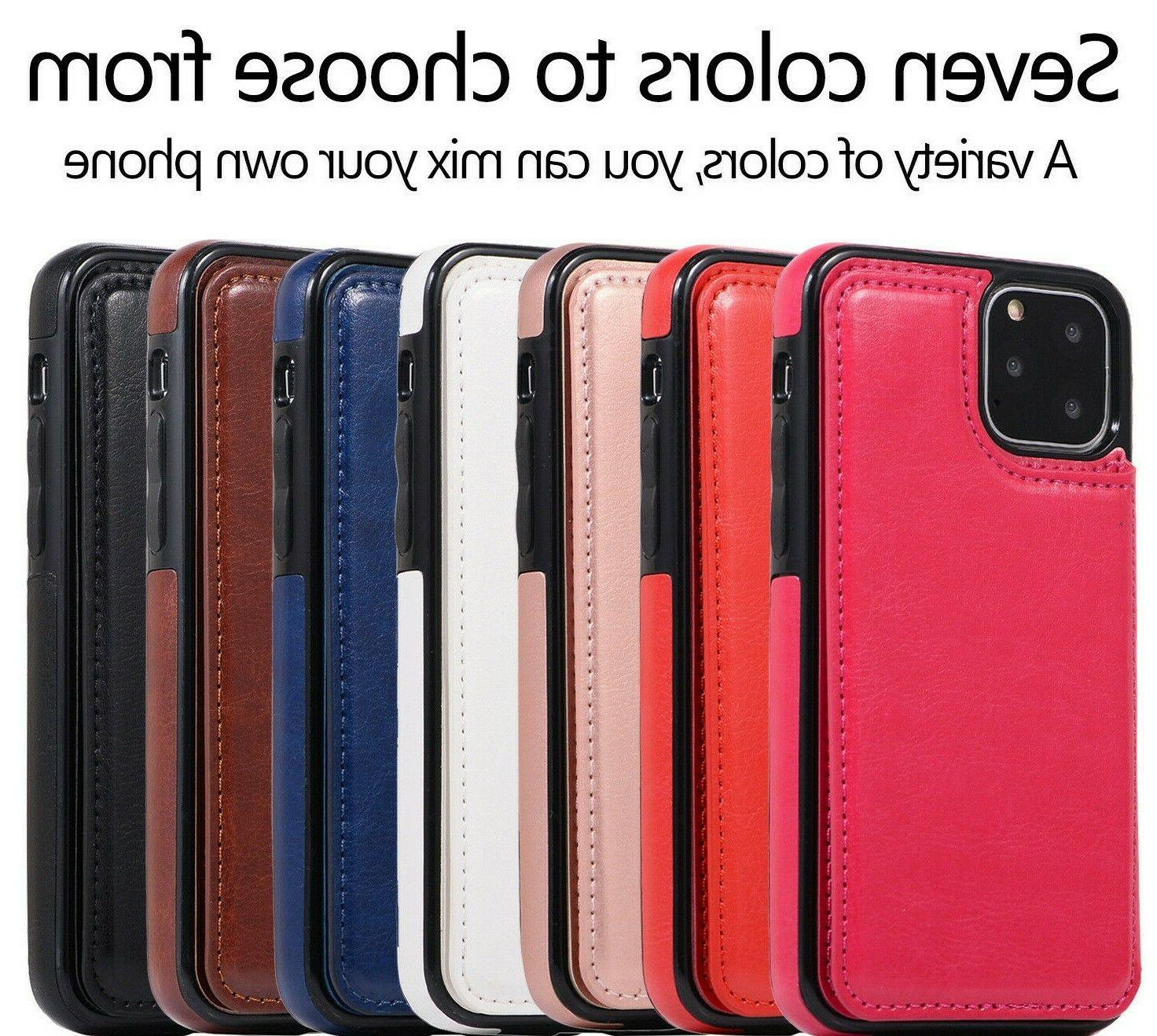 8 Plus Case Leather Card Cover Apple
