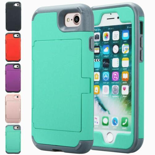 iphone 7 plus mirror wallet case card