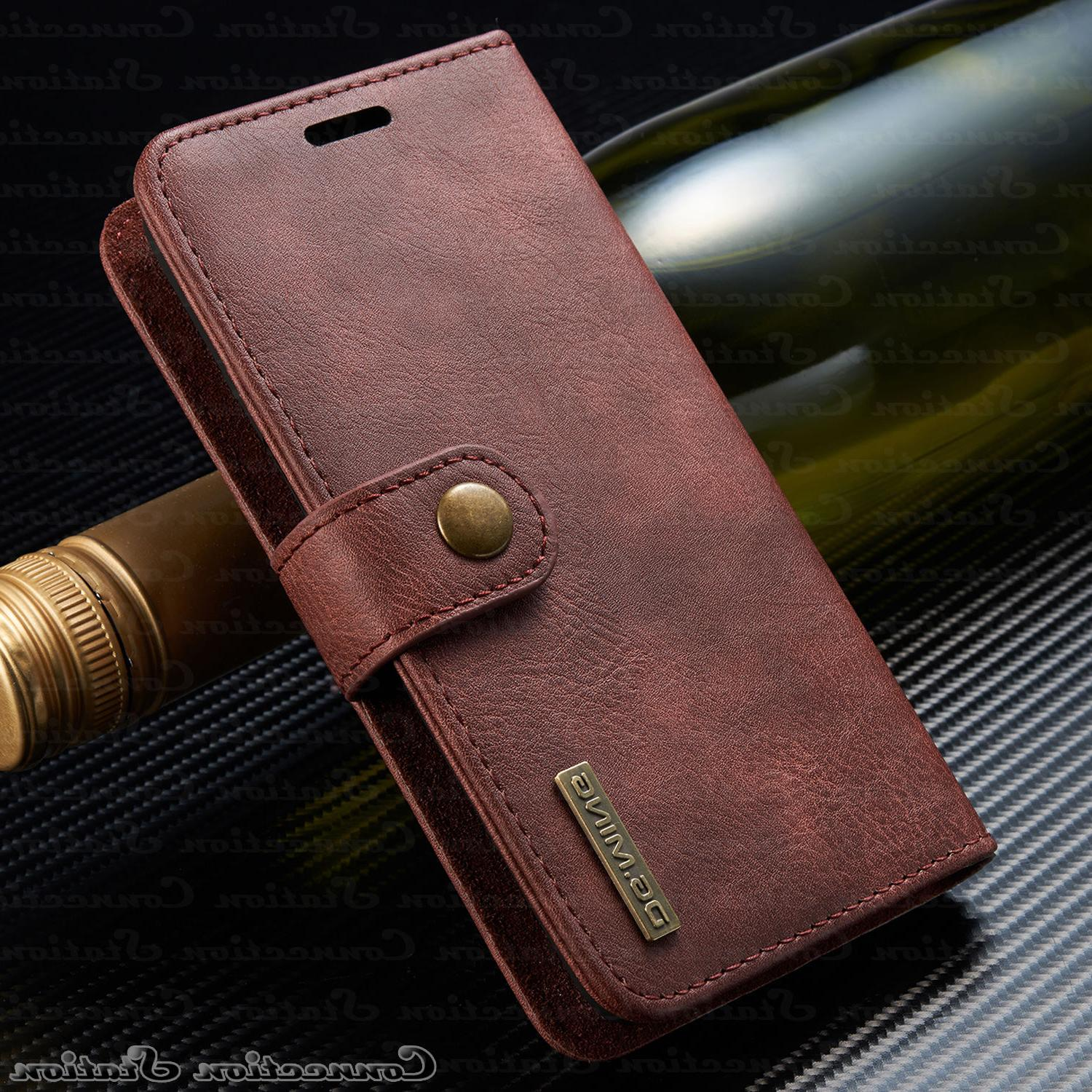 iPhone XR X Leather Wallet Card Case