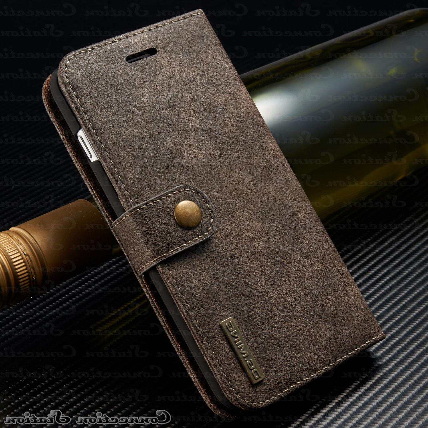 iPhone X 8 7 Plus Leather Cover Wallet Card