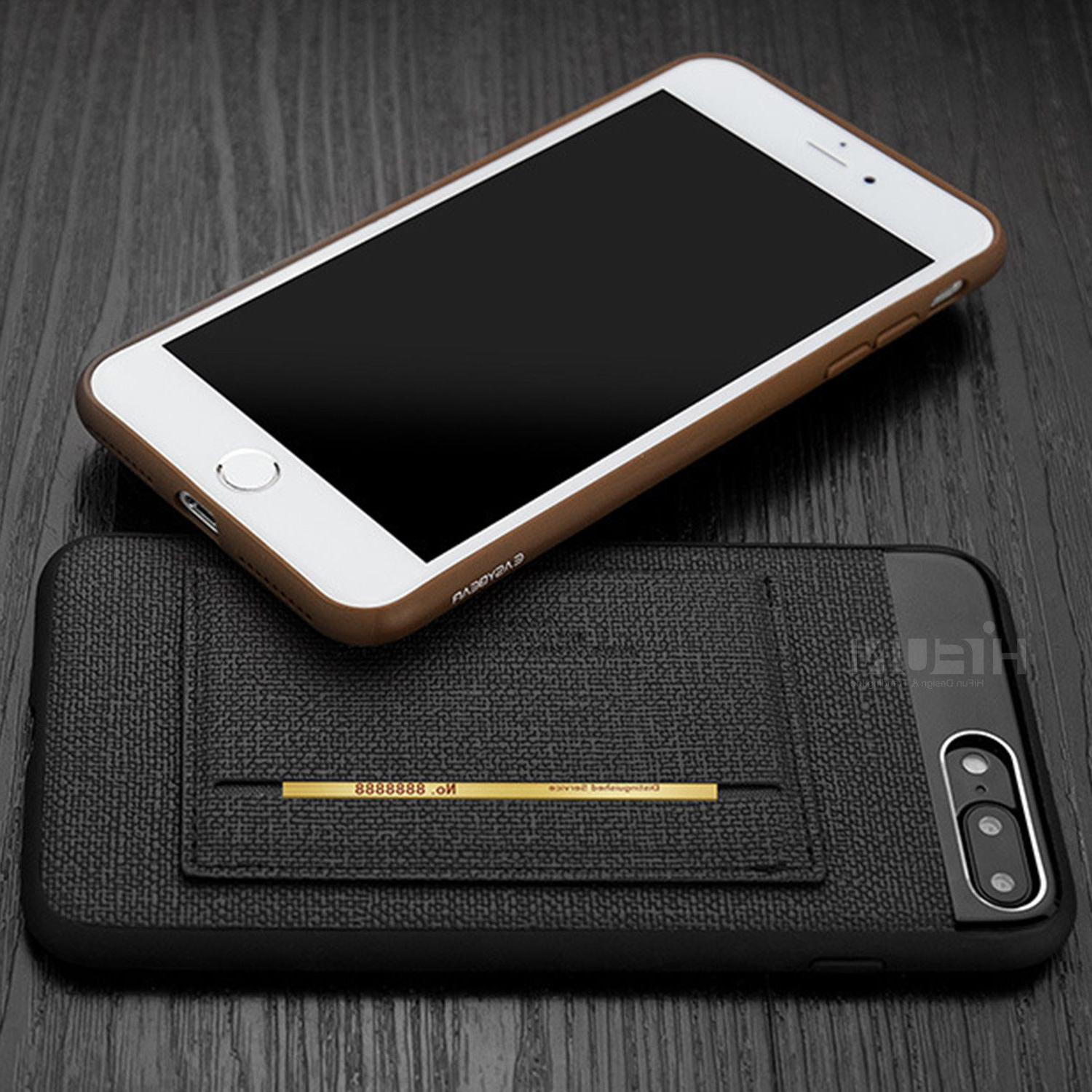 Fits Apple iPhone Case ID Card Leather Slim Armor Cover