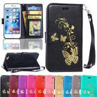 For iPhone 8 Flip PU Leather Folding Bracket Slim Card Pouch