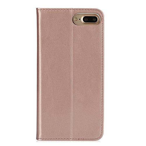 iPhone 8 Plus IPHOX Leather Case with Flip Notebook Cover for /