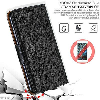 For iPhone 8 Plus 7 Max XR Magnetic Slot Wallet Case Cover